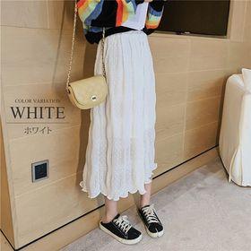 【ホワイトF】柔らかロングスカート