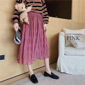 【ピンクF】柔らかロングスカート