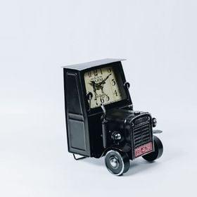 【ブラック】ヴィンテージモチーフクロック tractor