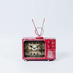 【レッド】ヴィンテージモチーフクロック television