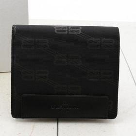 バレンシアガ 二つ折り財布 ロゴプリント 色:BLACK-ブ...
