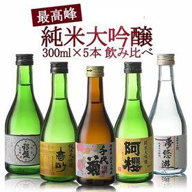 【300ml×5本セット】日本酒 飲み比べ 5酒蔵の純米大吟...