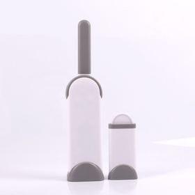 【グレー】家庭用・持ち運び用に便利な毛玉取り大小セット
