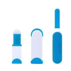 【ブルー】家庭用・持ち運び用に便利な毛玉取り大小セット