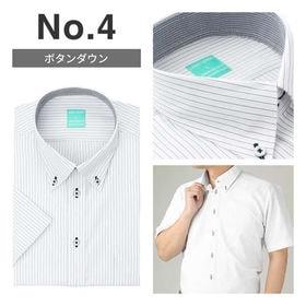 【No.4/M(39)】接触冷感ワイシャツ半袖 抗菌防臭&吸...