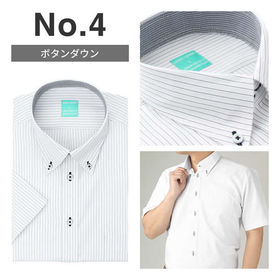 【No.4/L(41)】接触冷感ワイシャツ半袖 抗菌防臭&吸...