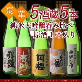【720ml×5本】5酒蔵の純米大吟醸 [原酒1本入り]
