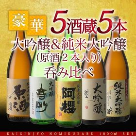 【1800ml×5本】5酒蔵の純米大吟醸・大吟醸 飲み比べ