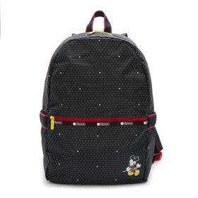 [LeSportsac]リュック CARRIER BACKPACK ブラック | ミッキーと素敵な仲間たちが織り成す「Mickey&Friendsコレクション」!