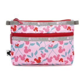 [LeSportsac×MICKEY&FRIENDS]ポーチ COSMETIC CLUTCH ピンク | ミッキーと素敵な仲間たちが織り成す「Mickey&Friendsコレクション」!