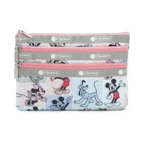 [LeSportsac×MICKEY&FRIENDS]ポーチ 3-ZIP COSMETIC マルチ | ミッキーと素敵な仲間たちが織り成す「Mickey&Friendsコレクション」!