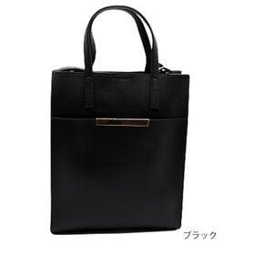 【ブラック】縦型トートショルダーバッグ