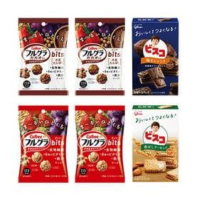 【6コ入】カルビーとグリコのからだつよくなる健康お菓子セット...