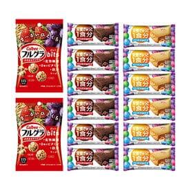 【14コ入】カルビーとグリコのからだつよくなる健康お菓子セッ...