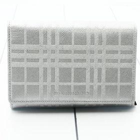 バーバリー 折り畳み財布 色:SILVER-シルバー
