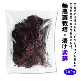 無農薬栽培 漬け紫蘇【200g×2袋セット】(袋入り、メール...