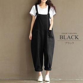 【ブラックXL】オーバーオール