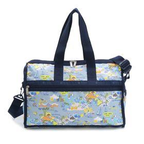 [LeSportsac]ボストンバッグ DELUXE MEDIUM WEEKENDER ブルー系 | 旅行には欠かせないボストンバッグ!キャリーバーに通せるポケット付きでサブバッグとしても◎
