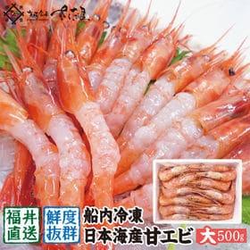 越前産 甘えび 【大サイズ】 1キロ(500g×2箱) 無添...