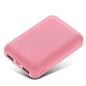 [ピンク]  8000mAh モバイルバッテリー