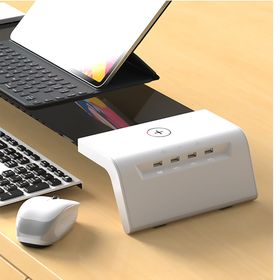 自動UVライト除菌モニターテーブル (ワイヤレス充電可能/自...