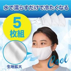 【5枚組/ホワイト】ひんやりクールタオルマスク