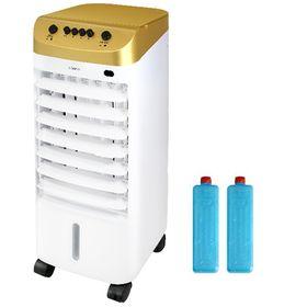 [ゴールド] 冷風扇 (オープン式上部水タンク/保冷剤2個付...