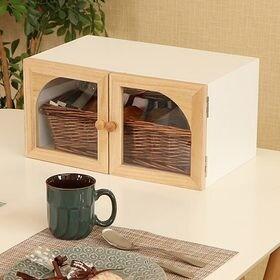 アフェット キッチン小物収納1段 一部組立品
