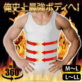 【L-LL/ホワイト】筋肉男子最強タンク