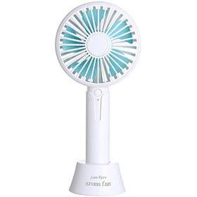 【ホワイト】ハンディ 卓上 扇風機 携帯扇風機 ポータブル ...