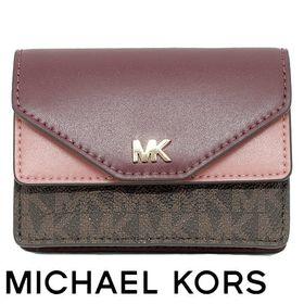 Michael Kors マイケルコース カードケース ワイン | 「MK」のゴールドロゴが高級感を漂わせます!