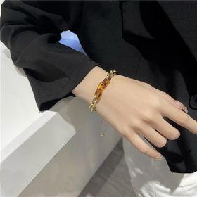 【ゴールド/F】マーブル×ゴールドチェーンブレスレット 84...