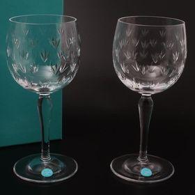 ティファニー ペア ワイングラス フローレット 2客セット
