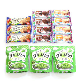 【14コ】ミーノそら豆とグリコ栄養機能お菓子セット