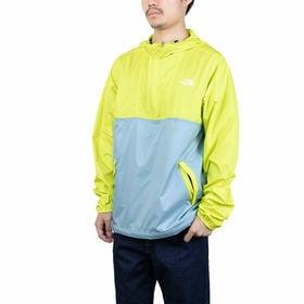 Mサイズ[THE NORTH FACE]ジャケット CYCLONE ANORAK イエロー×ブルー | サッと着用できるプルオーバータイプ!旅行やフェス、キャンプなどにも◎