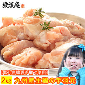 【2kg】国産生鶏肉(手羽元)/真空包装された九州産の手羽元