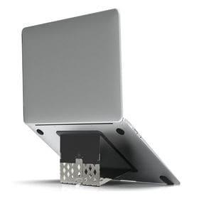 [マットブラック] 超薄型 折りたたみノートパソコンスタンド