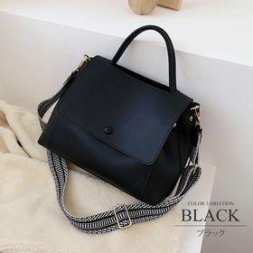 【ブラックF】2wayショルダーハンドバッグ