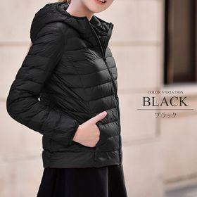 【ブラックL】中綿ジャケット