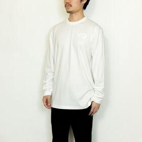 XLサイズ [Y-3]メンズ Tシャツ CLASSIC CHEST LOGO LS TEE ホワイト   胸元にさり気なくY-3ロゴをあしらった定番クラシックカットソー!