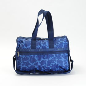 [LeSportsac] ボストンバッグ DELUXE MEDIUM WEEKENDER ネイビー系 | 旅行には欠かせないボストンバッグ!キャリーバーに通せるポケット付きでサブバッグとしても◎