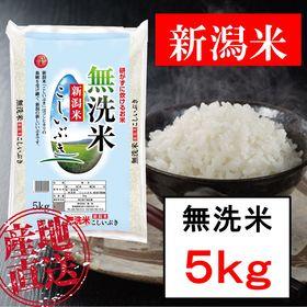 【5kg】無洗米 新潟産こしいぶき 令和3年産