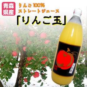 【1000ml×12本入】青森県産りんご100%ストレートジ...