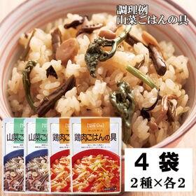 【2種/計4袋】【炊き込みご飯の素4袋入】山菜ごはんの具&鶏...