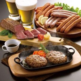 グルメセット/神戸牛ハンバーグ4個・ソーセージ3種各2・オー...
