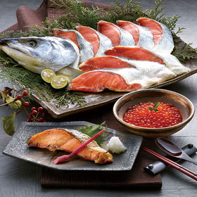 鮭の山漬け(1kg)といくら醤油漬け(80g×2パック)