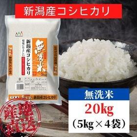 【20kg】無洗米 新潟県産 コシヒカリ 令和3年産