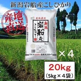 【20kg】新潟県岩船産 コシヒカリ 令和3年産
