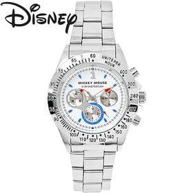 [白×青文字] 世界限定 ディズニー ミッキー 腕時計 ユニ...