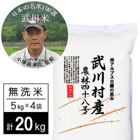 【20kg】 令和3年産 武川米農林48号-ヨンパチ 小澤義...